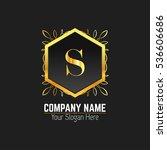 s letter logo  monogram design... | Shutterstock .eps vector #536606686