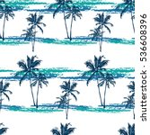 seamless vector tropical... | Shutterstock .eps vector #536608396