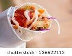 turkish chicken doner kebab ... | Shutterstock . vector #536622112