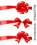 red bows set | Shutterstock . vector #536625706