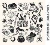 Hand Drawn Vector Set With...