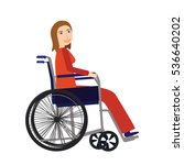 disability person concept....   Shutterstock .eps vector #536640202