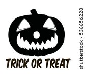 pumpkin lantern icon in outline ... | Shutterstock . vector #536656228