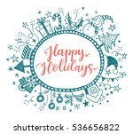happy holidays greeting card... | Shutterstock .eps vector #536656822