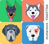 vector set of dogs central... | Shutterstock .eps vector #536657566