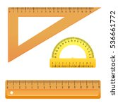 school instruments  rulers... | Shutterstock .eps vector #536661772