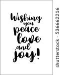 isolated calligraphy on white... | Shutterstock .eps vector #536662216