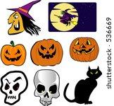 halloween icons | Shutterstock .eps vector #536669