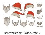 stylish santa. constructor.... | Shutterstock .eps vector #536669542