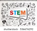 copy space on stem education... | Shutterstock . vector #536676292