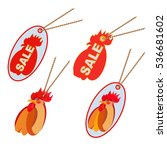 sale tags set. red sale tags... | Shutterstock .eps vector #536681602