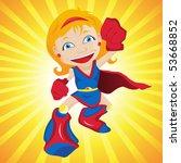 super hero girl. editable... | Shutterstock .eps vector #53668852