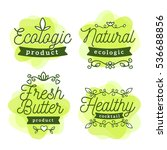 vector set of eco watercolor... | Shutterstock .eps vector #536688856
