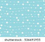 seamless pattern with stars and ... | Shutterstock .eps vector #536691955