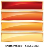 vector buttons in hot colors... | Shutterstock .eps vector #53669203
