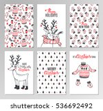 christmas hand drawn printable... | Shutterstock .eps vector #536692492