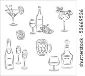 set of vector sketches ... | Shutterstock .eps vector #53669536