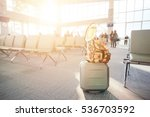 travel luggage with passenger... | Shutterstock . vector #536703592