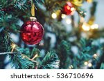 decorated christmas tree... | Shutterstock . vector #536710696
