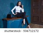 sexy elegant woman natural... | Shutterstock . vector #536712172