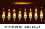 cartoon torch animation. fire...