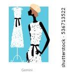 gemini horoscope sign as a...   Shutterstock .eps vector #536713522