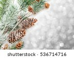 christmas decoration on ... | Shutterstock . vector #536714716