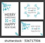 simple christmas background... | Shutterstock .eps vector #536717506