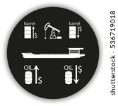 set of barrel oil icon. oil... | Shutterstock . vector #536719018