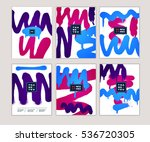 grunge invitation set. vector... | Shutterstock .eps vector #536720305