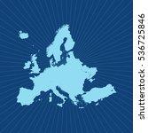 map of europe | Shutterstock .eps vector #536725846