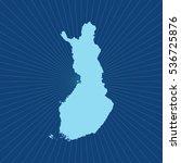 map of finland | Shutterstock .eps vector #536725876