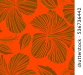 seamless pattern of brown and... | Shutterstock .eps vector #536736442