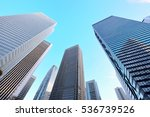 high rise buildings of fine...   Shutterstock . vector #536739526