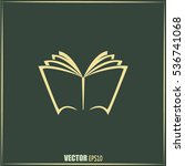 vector book icon | Shutterstock .eps vector #536741068