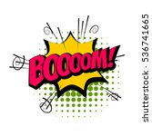 lettering boom. comic text... | Shutterstock .eps vector #536741665