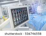 head scan on the monitor in...   Shutterstock . vector #536746558