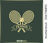 tennis icon | Shutterstock .eps vector #536748892