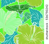 tropical seamless pattern with... | Shutterstock .eps vector #536750242