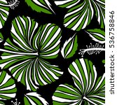 hawaiian tropical natural... | Shutterstock .eps vector #536758846