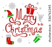 holiday vector illustration... | Shutterstock .eps vector #536761345