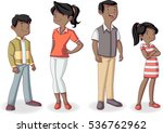colorful happy black people.... | Shutterstock .eps vector #536762962