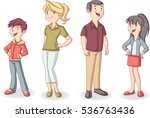 colorful happy people. cartoon... | Shutterstock .eps vector #536763436