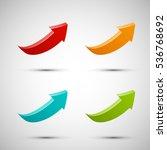 vector arrow banners set.... | Shutterstock .eps vector #536768692