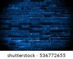 Blue Background Of Old Vintage...