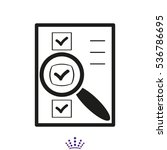 document magnifier icon vector... | Shutterstock .eps vector #536786695