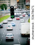 crosswalk lights in a... | Shutterstock . vector #53678671