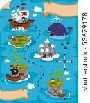 treasure map   vector | Shutterstock .eps vector #53679178