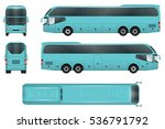 travel bus vector template.... | Shutterstock .eps vector #536791792