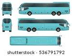 travel bus vector template.... | Shutterstock .eps vector #536791792